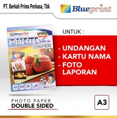 Kertas Foto  Double Sided Photo Paper BLUEPRINT A3 220 gsm
